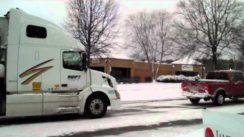 Dodge Ram Tows Semi Truck in Snow!
