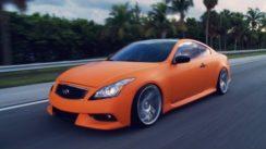 Matte Orange Infiniti G37s on 20″ Rims