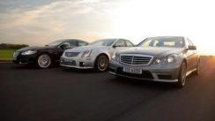 Mercedes-Benz E63 AMG vs Cadillac CTS-V vs Jaguar XFR