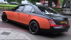 Custom Maybach 57 – Matte Black/Orange Video