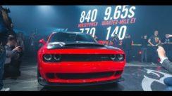 2018 Dodge Demon Burnout, Launch, Specs & Reveal