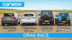 Bentayga Speed vs AMG G63 vs Cayenne Turbo – SUV DRAG RACE