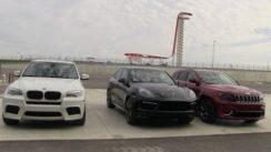 2014 Jeep SRT vs BMW X5 M vs Porsche Cayenne GTS 0-60 MPH Review