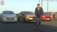Ford Fiesta ST vs Peugeot 208 GTi vs Renault Clio RS