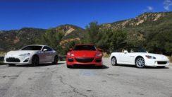 Honda S2000 vs Subaru FRS (GT86, BRZ) vs Mazda RX8 Review
