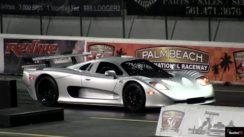 RARE Mosler MT900 vs SLR McLaren 1/4 Mile Drag Race