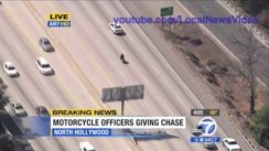 Motorcycle Police Chase on Freeway