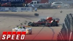 Large Race Car Wreck at 12 Hours of Sebring