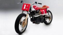 Vintage Triumph Hot Rod Motorcycle