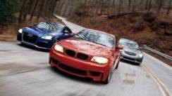 Audi TT RS vs BMW 1-series M vs Infiniti IPL G