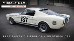 1965 Shelby GT 350 R Racing School Car Video