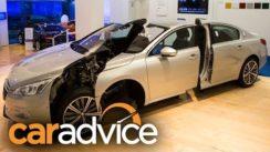 New Car Safety Technology: NRMA Crashed Car Showroom