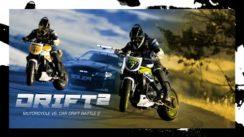 Motorcycle vs. Cop Car Drift Battle