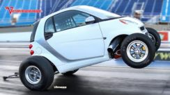 Crazy Smart Car with Big Block Chevy V8!