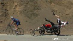 Shocking Ducati Motorcycle Crash into Bicycles