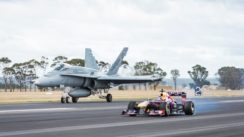 Infiniti F1 Car vs F/A-18 Hornet Fighter Jet