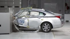 2012 Acura TL Overlap IIHS Crash Test Video