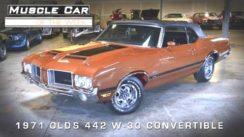 1971 Olds Cutlass 442 W30 Convertible Muscle Car