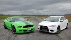 Ford Mustang Boss 302 vs Mitsubishi Lancer Evolution MR