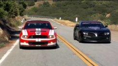 "2011 Shelby GT500 vs 2011 ""Firebreather"" Camaro"