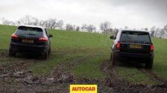 Range Rover vs Porsche Cayenne Drag Racing