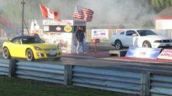 2012 Mustang GT vs Saturn Sky Red Line Drag Race