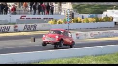 Supercharged Mini Cooper Does A Wheelie At The Track