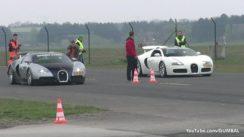Bugatti Veyron vs Bugatti Grand Sport Drag Race