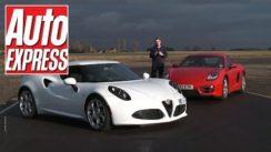 Alfa Romeo 4C vs Porsche Cayman on Track
