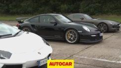 Lamborghini Aventador vs 911 GT2 RS vs Mercedes SLS