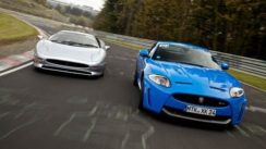 Jaguar XJ220 vs Jaguar XKRS Track Test Comparison