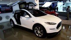 2014 Tesla Model X at Detroit Auto Show