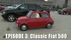 Giant Drives a Classic Fiat 500