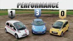 Nissan Leaf vs Citroen C-Zero vs Mitsubishi i-Miev Eco Car Review