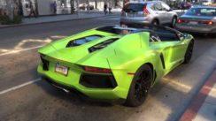 Lamborghini Aventador Roadster Cruising Beverly Hills