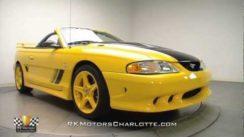 Yellow 1998 Ford Saleen Mustang SA-15 Roadster
