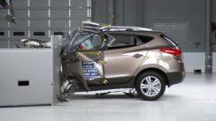 2013 Hyundai Tucson Overlap IIHS Crash Test Video