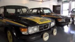 The SAAB 99's at the SAAB Car Museum