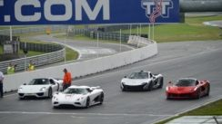 Koenigsegg Agera vs Ferrari LaFerrari vs Porsche 918 vs Mclaren P1 on Track
