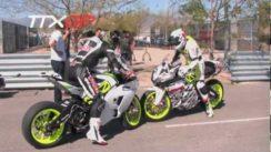 Zero vs Brammo Electric Motorcycle Burnouts