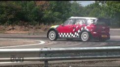 Driving the Mini Countryman WRC Rally Car