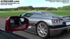 Nissan GTR vs Koenigsegg CCR Evolution Drag Race Video