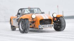 Caterham Supersport Snow Driving