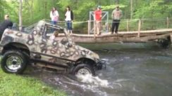 GEO Tracker Attempting a River Crossing