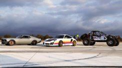 SEMA Drag Race! '70 Mustang vs Porsche 911 vs Ultra Four Buggy