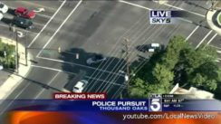 Police Chase in Thousand Oaks, California