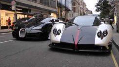 Pagani Zonda vs Bugatti Veyron SuperSport Video
