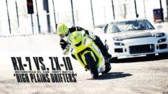 Motorcycles vs. Car Drift Battle