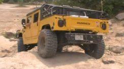 Rockin the Humvee at the Badlands