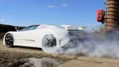 Bugatti EB110 SS Burnout